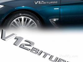 V12 BITURBO nikelic Emblem