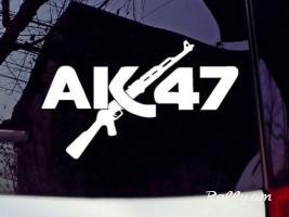 Avto Nakleyka AK-47 sticker RUSSIAN USSR war WEAPON 190x100mm (Նորույթ)