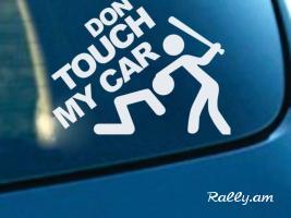 """Avto Nakleyka """"Dont Touch My Car"""" (սպիտակ և սև գույներ)"""