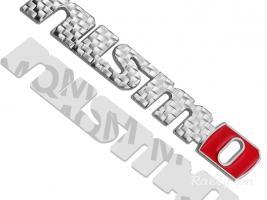Nissan Nismo emblem Carbon