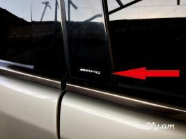 AMG  չկրկնվող չափսի լօգոներ Mercedes Benz ի սրահի և այլ հատվածների համար
